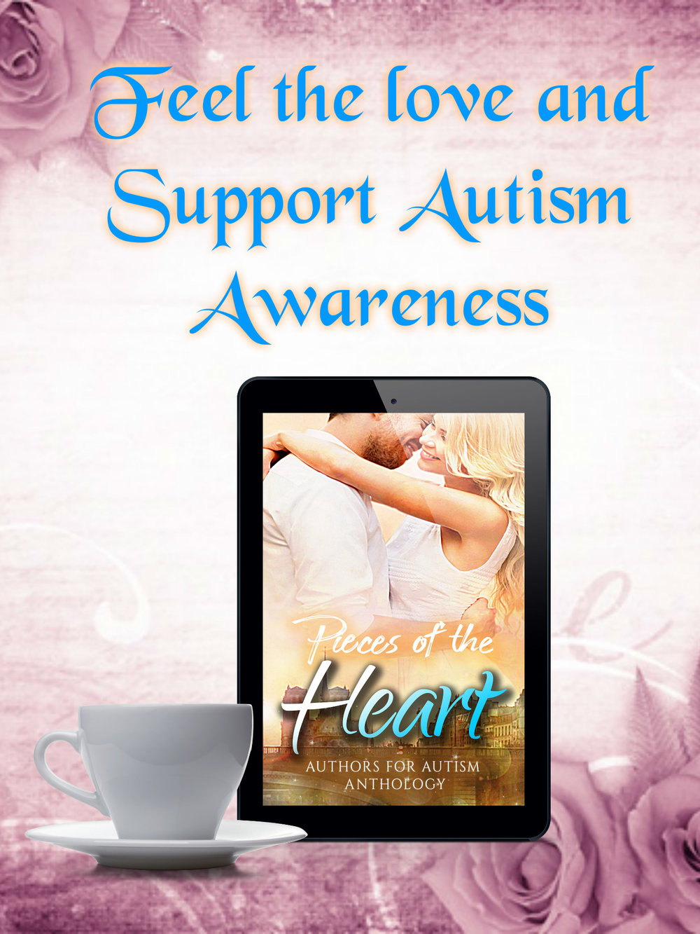 Pieces of the Heart collaboration written by some amazing authors. #AutismSpeaks #AutismAwareness Fifteen incredible authors have come together with stories of love, passion, pain, and triumph in support of Autism research. Pieces of the Heart by Authors for Autism is a collection of romance short stories of various genre and styles. Contemporary, fantasy, comedy, historical, and drama, all combined in an assembly of sweet short reads to fill your heart with emotion. All of the proceeds of every sold copy of Pieces of the Heart will be donated toward Autism Research. This is a cause near and dear to every author involved in this project, and they are all excited to share these beautiful stories with all of you. Maggie Anderson- Guilty Pleasures Shannon Bell- Not Your Average Prince Charming Robbie Cox- Another Page Chrys Fey- Cancer Can't Joan Hazel- Show, Don't Tell Violet Howe- Breaking the Promise Brenda Hunt- A Love for Sarah Sam J D Hunt- Nicco the Eternal Elaine Kaye- All Aboard Tamsyn L. Key- Hunted Michelle Louise- The Will to Love Again Tara Ann Moore- Marigold J. Nichole Parkins - The Girl in the Well Cherron Riser- Author- Through Frozen Shadows Miranda Shanklin- I Got Scared