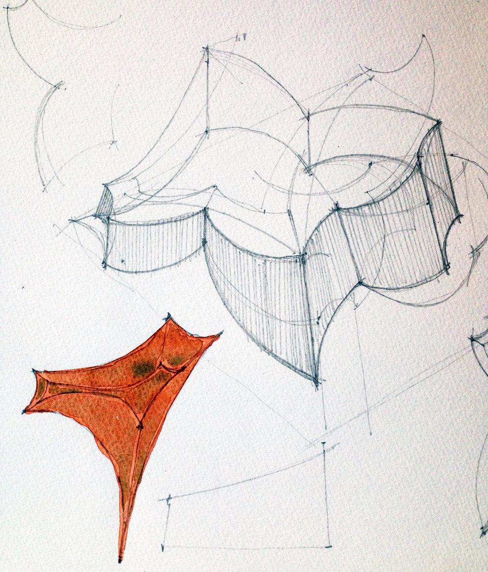 Sketchbook sculptural studies