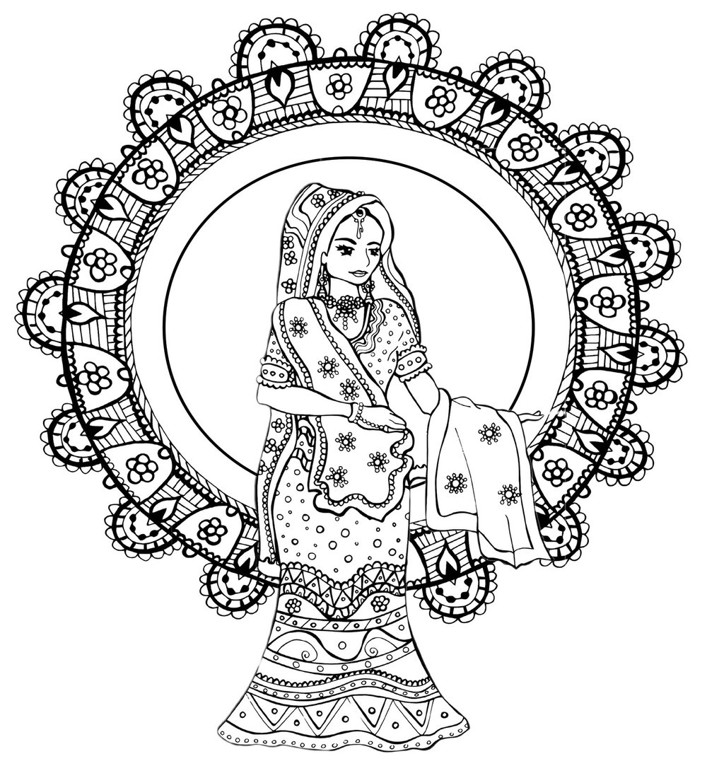 bollywood brides coloring book for adults alexis manduke
