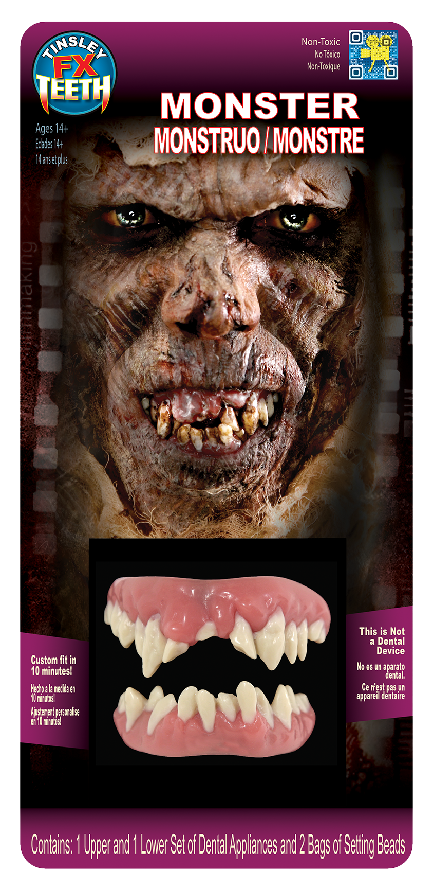Application/Makeup by Hannah Sherer for Tinsley Transfers Merchandise/Social Media. Teeth Design by Tinsley Transfers. Prosthetic sculpt by Tinsley Transfers.