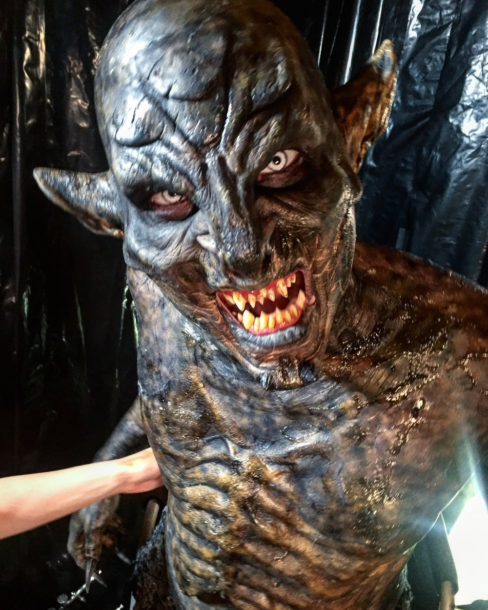 Head Makeup Artist and Designer for The Woods Monster: Hannah Reed.   FX Team: Melanie Aksamit, Oasis Nguyen and Brittany Fontaine