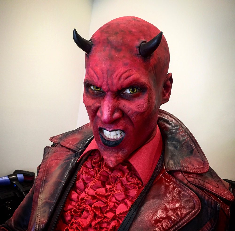 Devil makeup for VR App.   Head Makeup Artist: Hannah Reed. Makeup assistant: Melanie Aksamit