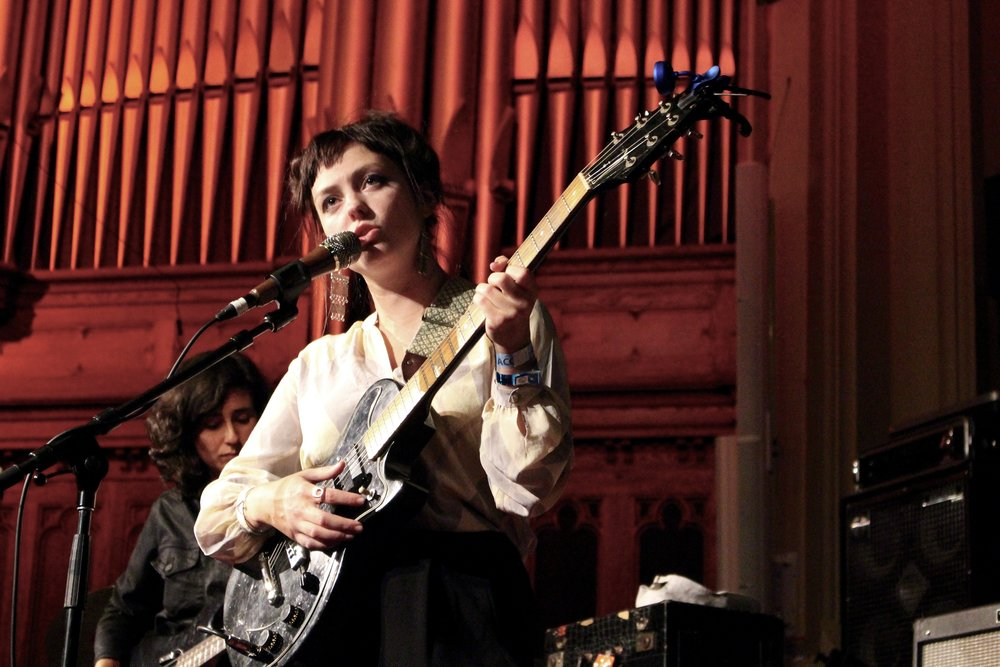Angel Olsen at Central United Church. Photo by Kennedy Enns.