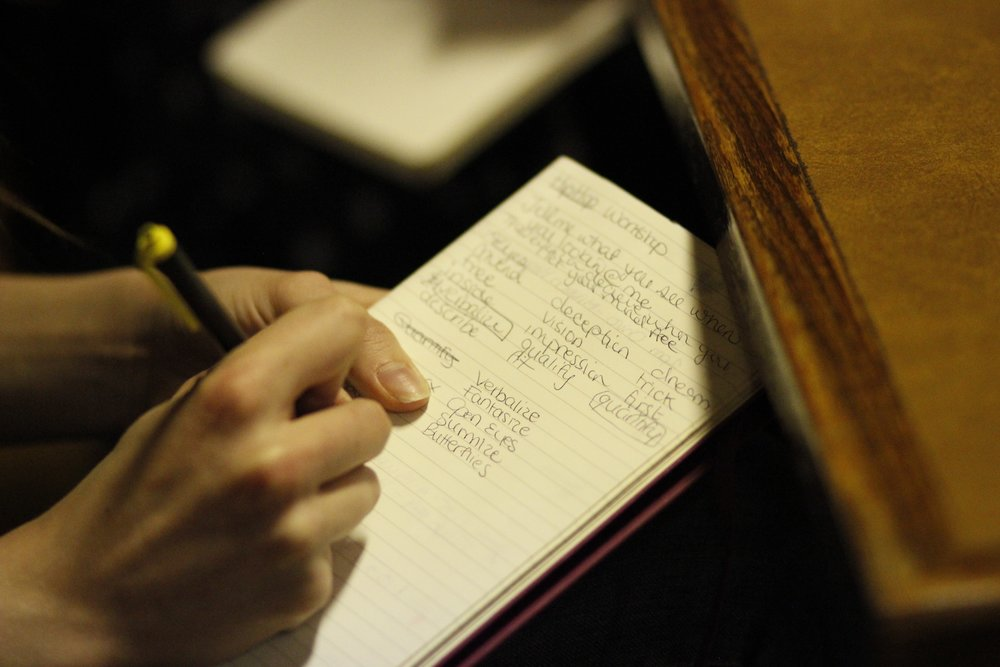 Hip-hop writing workshop. Photo by Amber McLinden.