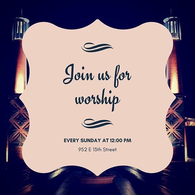 We invite you to join us for weekly worship services every Sunday at noon! Our current study is in the book of Acts.