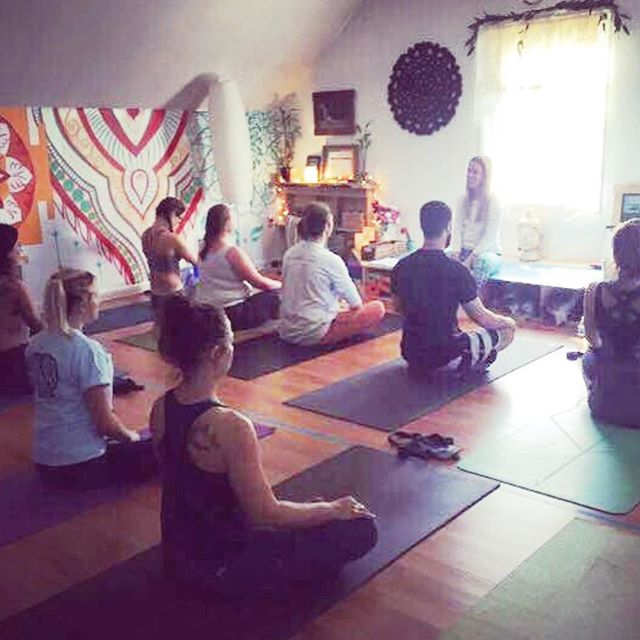It's been a little over 2 years since @megwilmott took this grainy picture of my first ever yoga class ✨ A little over 2 years since spending every weekend in that small brightly colored painted room. A little over two years since finishing @bodhiyogaacademy teacher training in 2016. ✨ When I look at this picture I see the people I still am blessed to connect with in this life: @mike.j.schmidt  @mindfulmentorship @tee_nap_ @billkasana @mollykildow @staystay11 @kristie_crisafi + the unseen friends @notetomyhappyself 😜 ✨ I'm beyond grateful to announce I have officially qualified and been recognized at a 200 E-RYT by @yogaalliance I'm working on creating trainings, anatomy focused learning experiences amongst other things that I'm so excited to be offering. ✨ But as these next steps come in to fruition - I need to pay homage and respect to the place where it all began and the people here. I still love you all - even more than captured here when I barely even KNEW the magic all of this held. THANK YOU ✨ . . . . . . . . . . . . . . . . . . . . #yogatrainings #anatomybasedmovement #200ERYT #physicaltherapist #movementspecialist #movementiswhatidoforaliving #movewithme #learn #doctorate #yogaanatomy #togetherwerise #teachertraining #bodhimovement #oneday #missthisspace #thatwall