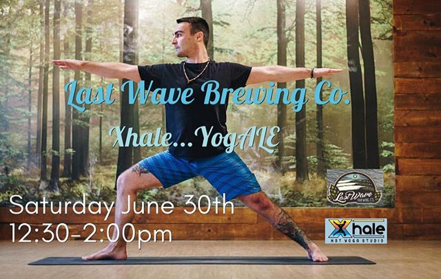 Check Mike out - he's teaching Xhale...YogALE at Last Wave Brewing Co in Point Pleasant! 🌊 Come flow and then chill with a flight of beer - Saturday June 30th 12:30-2:00pm 🌊 Sign Up: https://www.eventbrite.com/e/xhale-yogale-tickets-47199032577 . . . . . . . . . . . . . . #xhale #xhalehotyoga #lastwavebrewing #beer #beeryoga #yogaandbeer #beerandflow #yogale
