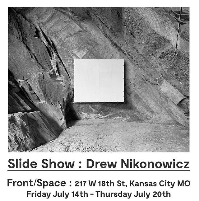 Check out our next Slide Show artist Drew Nikonowicz! His work will be visible in the F/S storefront window every evening until July 20th.