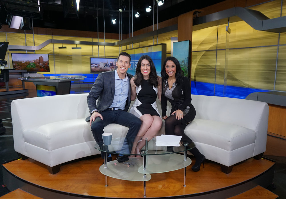 Source:  Lisa Raciti   // On set for CT Style with hosts Ryan Krisafer and Teresa Dufour.