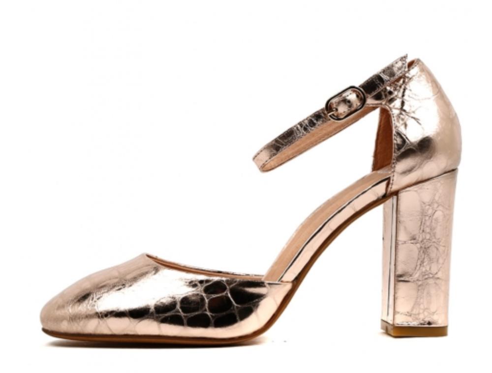 Mollini Percini Rose Gold Croc Leather
