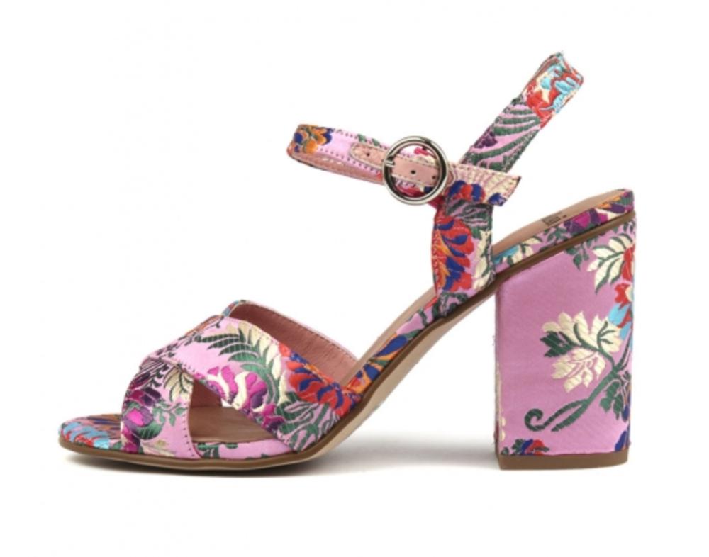 Mollini Otchen Pink Jaquard Fabric