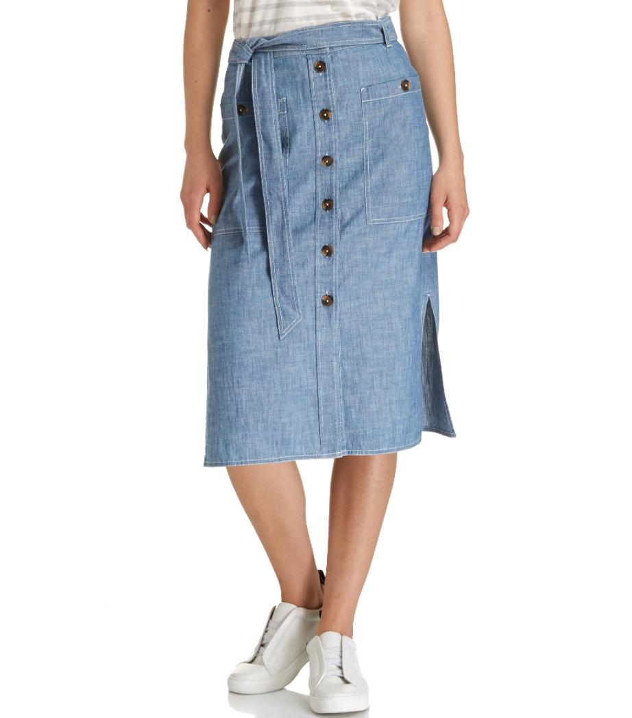 Saba Adelene Chambray Skirt