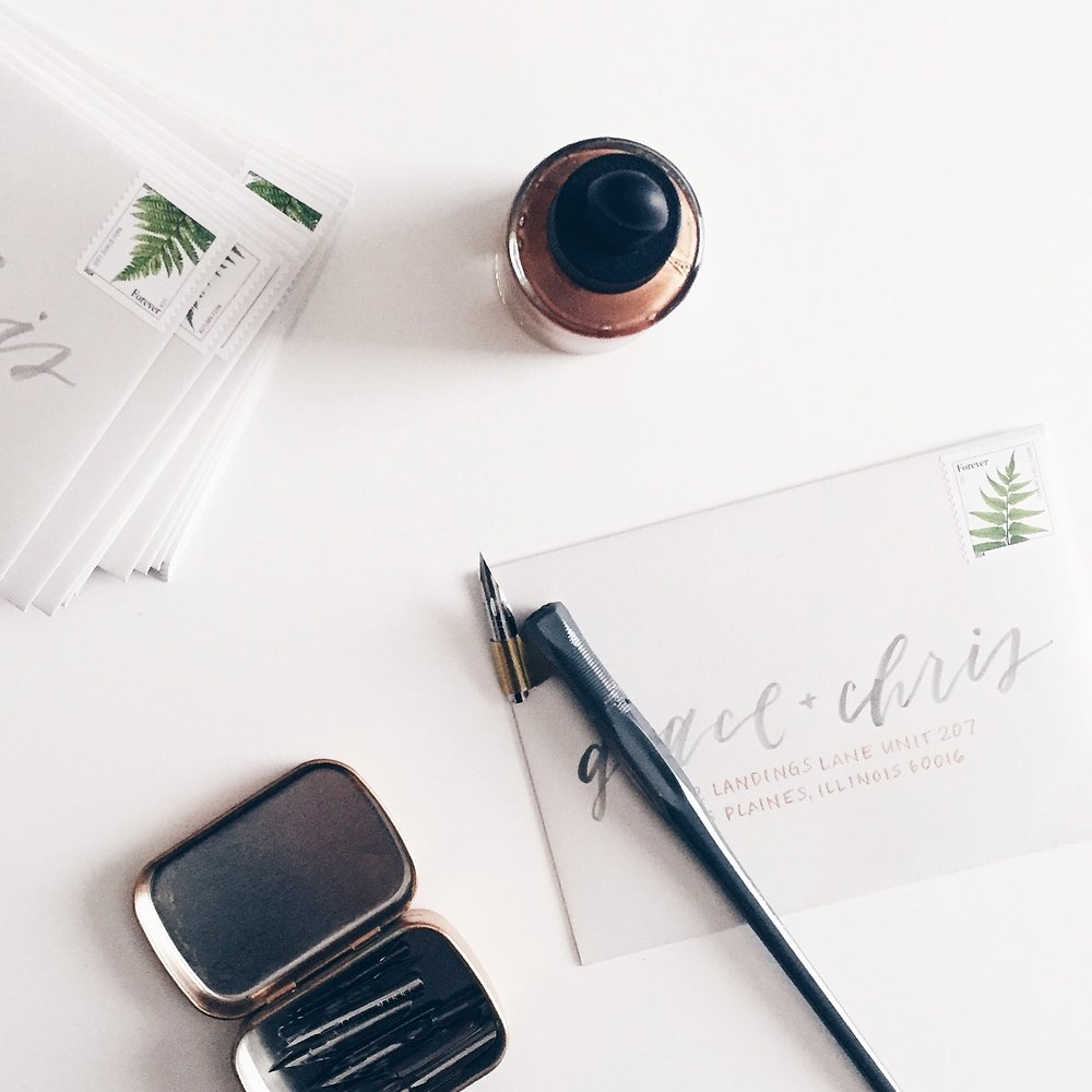 Design, calligraphy and photo by Grace Niu