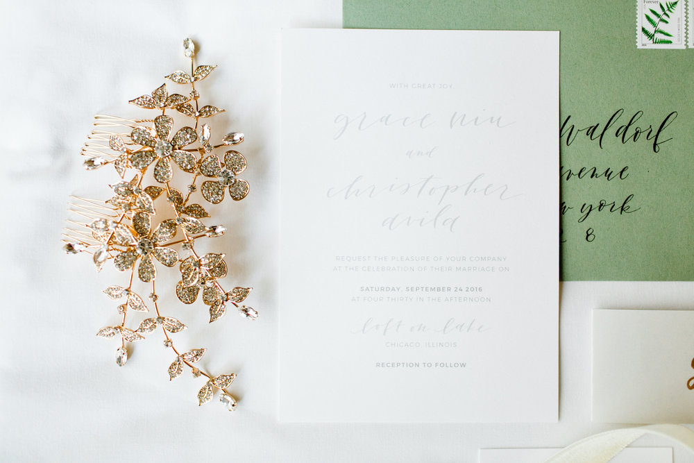 Design and calligraphy by Grace Niu, photo by  Mayden Photography