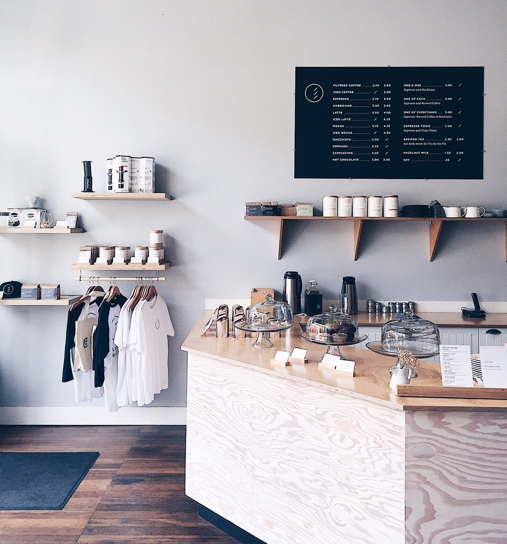 Elm Coffee Roasters. Photo by Grace Niu Design