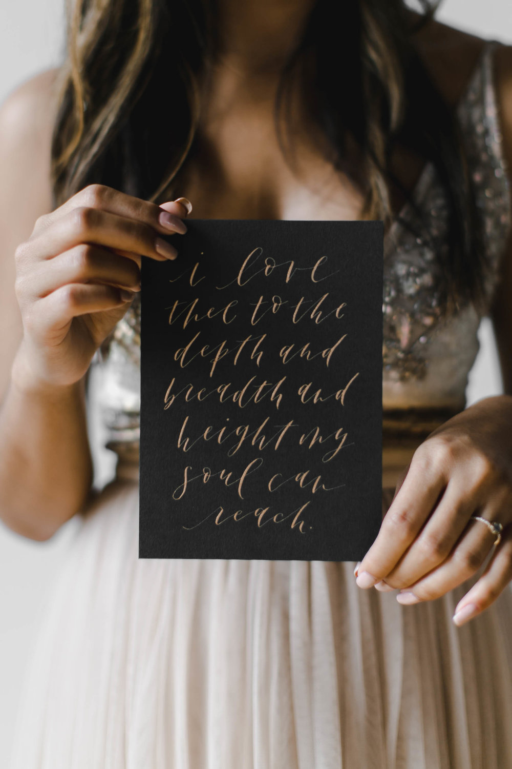 Photo by Melody Joy Co, Design & Calligraphy by Grace Niu Design, Jewelry by Lady Faye Jewelry