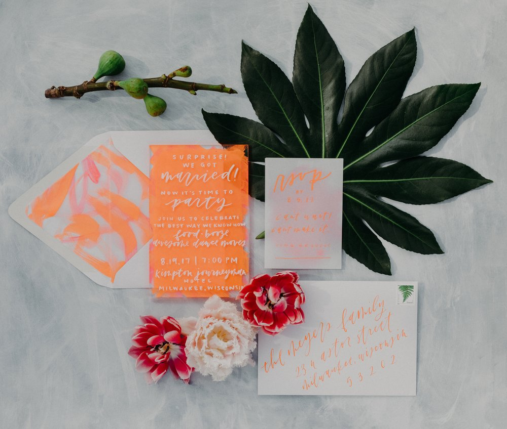Grace Niu Design Custom Invitation Suite, Studio 29 Photography