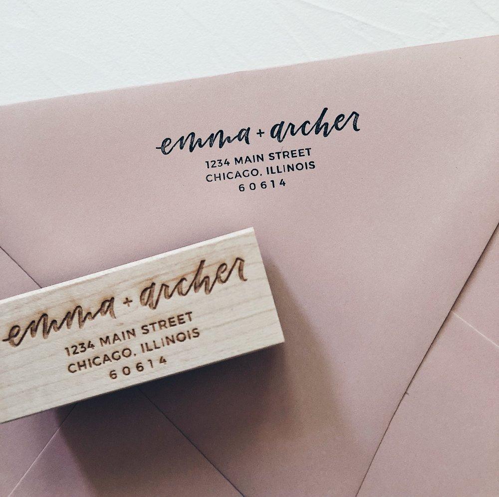 Custom Rubber Stamp Grace Niu Design