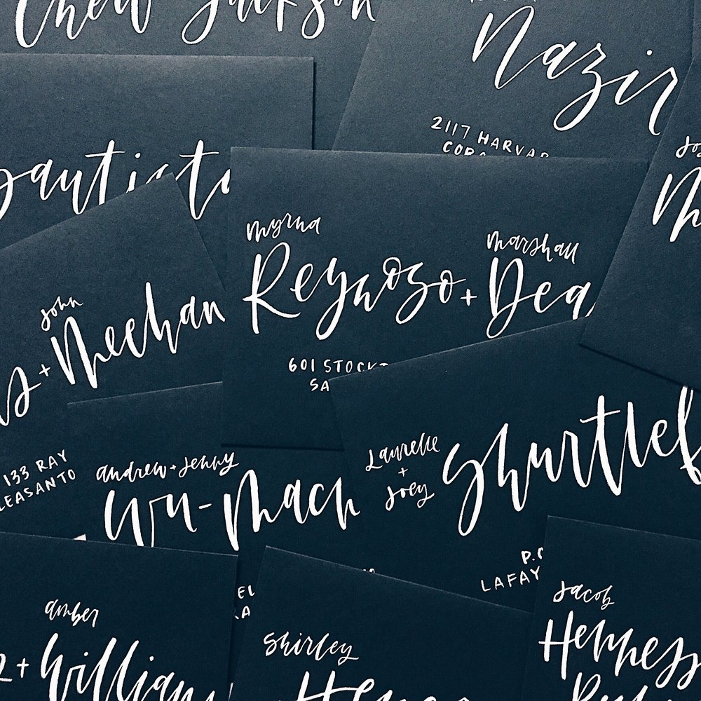 Grace Niu Design, Envelope Calligraphy
