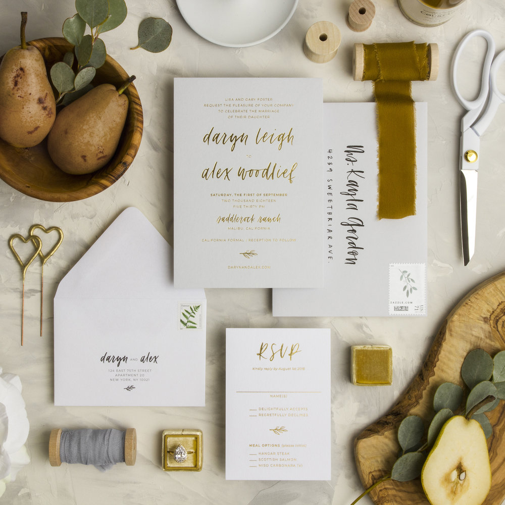 Grace Niu Design Custom Invitation Suite, Styling and Photo by Ramon Gomez