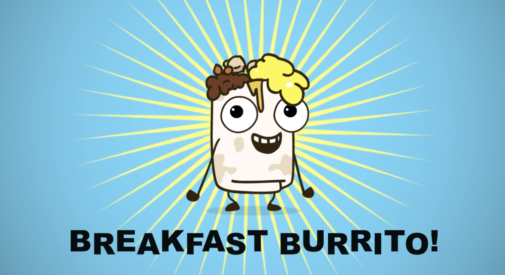 Parry Gripp's  Breakfast Burrito