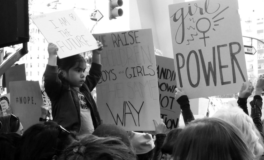 Photographed by me at the Women's March in Los Angeles, January 21st, 2017