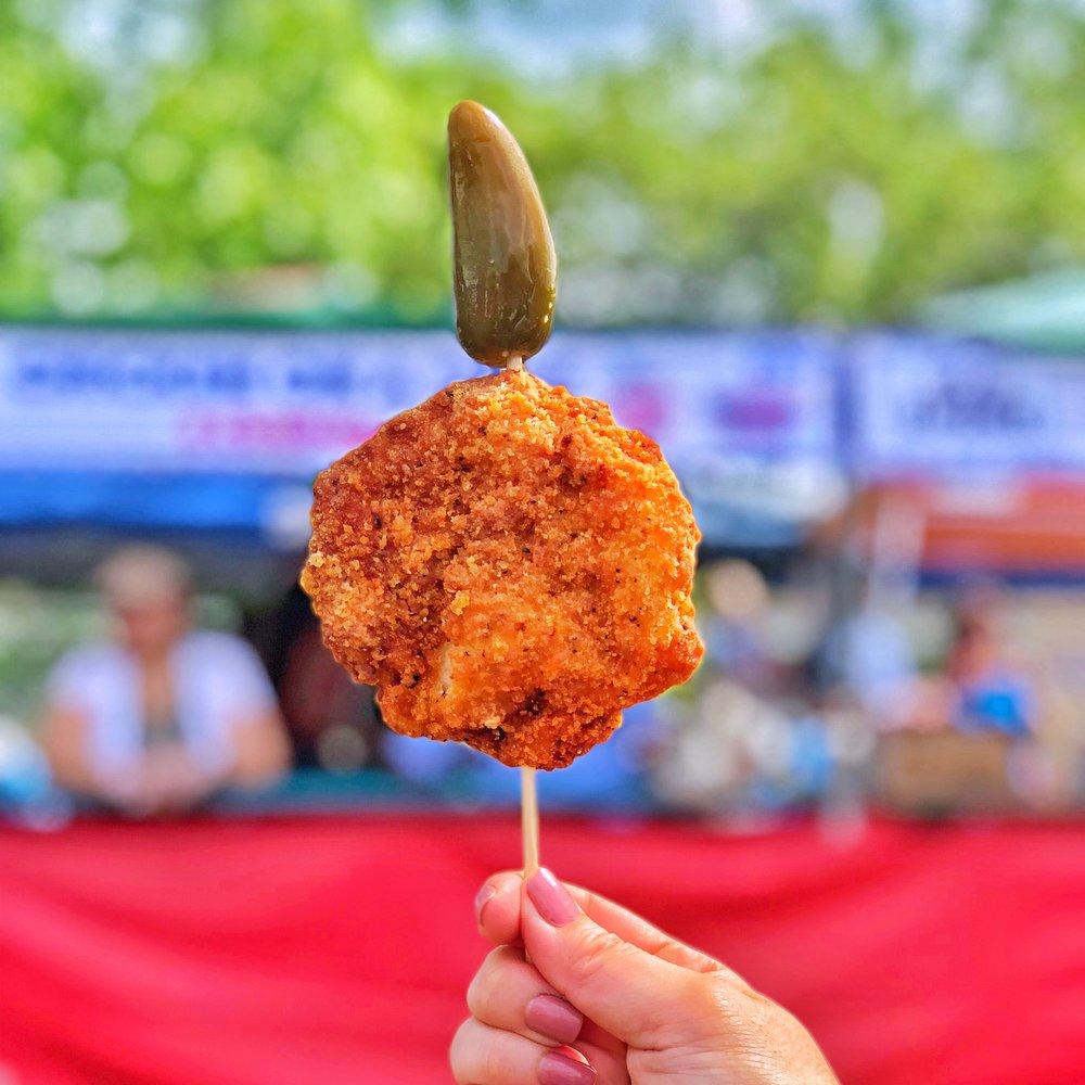 Chicken-on-a-stick at Fiesta Oyster Bake