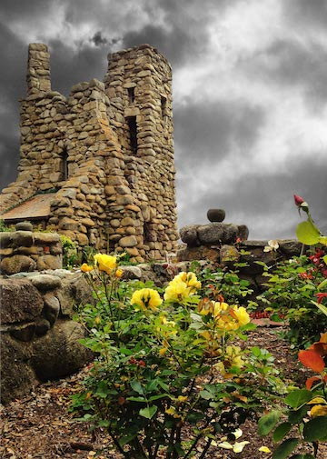 Hawk Tower and Rose Garden