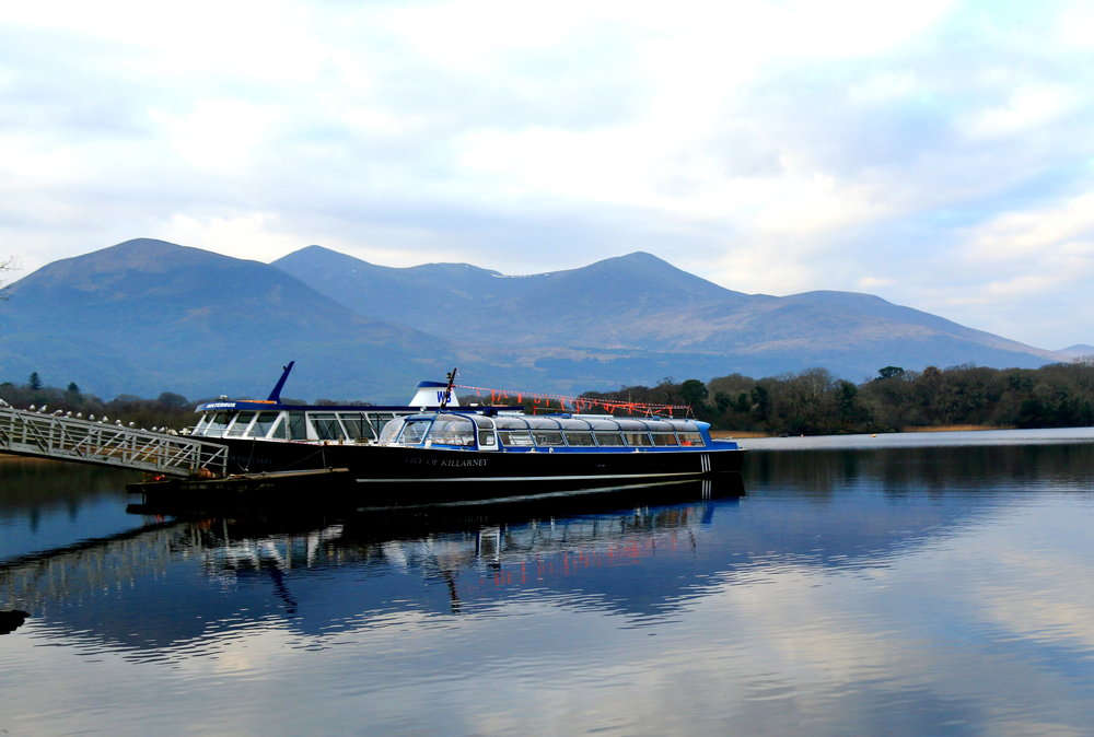 killarney national park - boats in the river