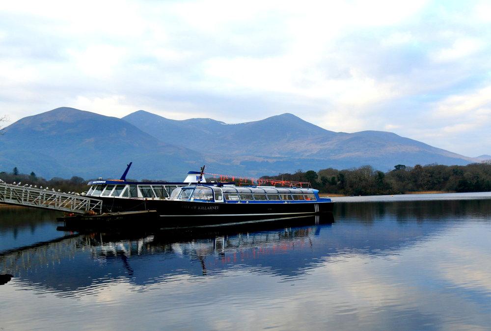 killarney national park - boats in the river