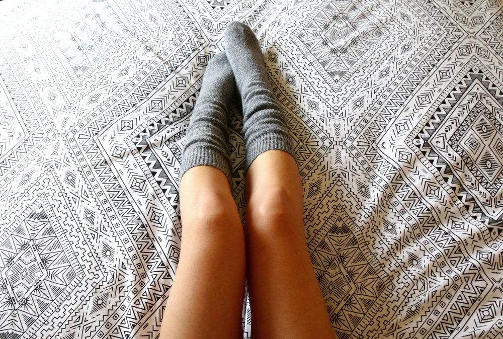 fuzzy warm socks