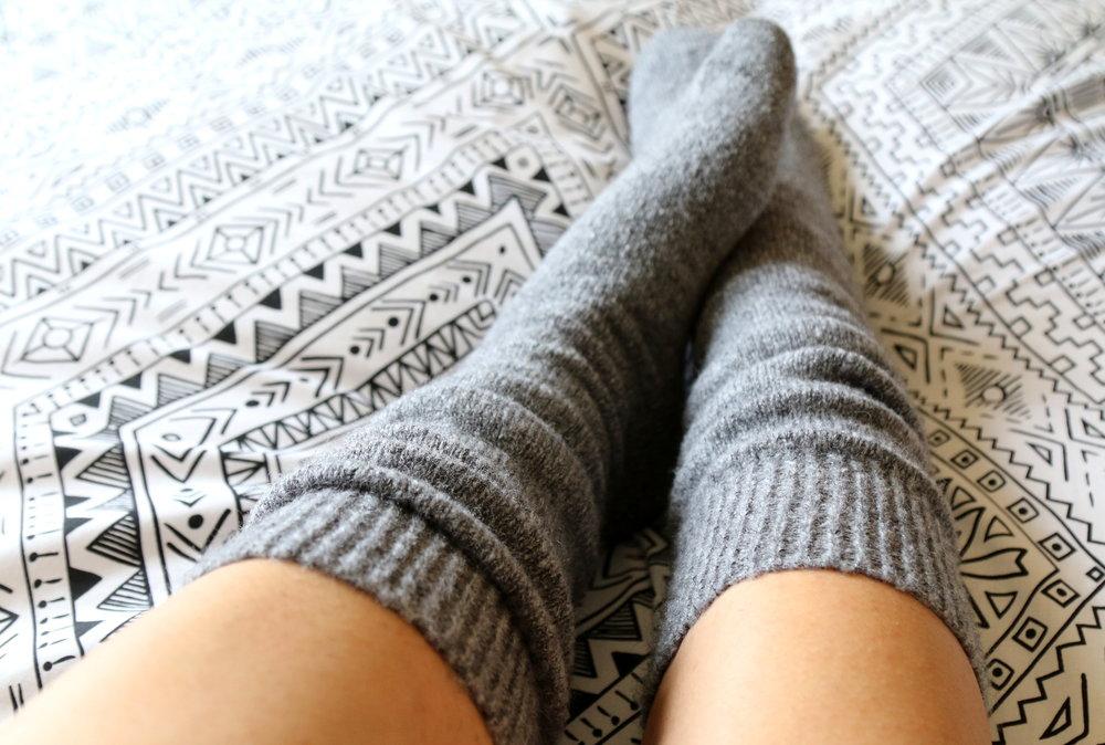 warm fuzzy socks H&M
