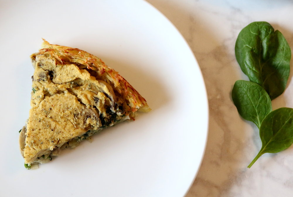 delicious vegan quiche