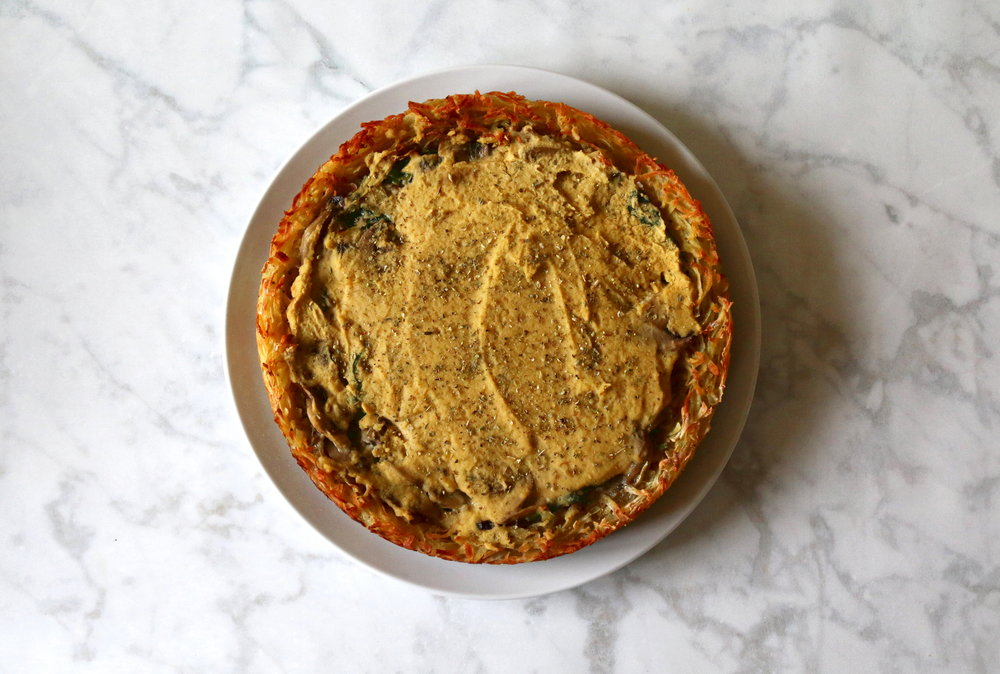 delicious vegan quiche (no pastry!)