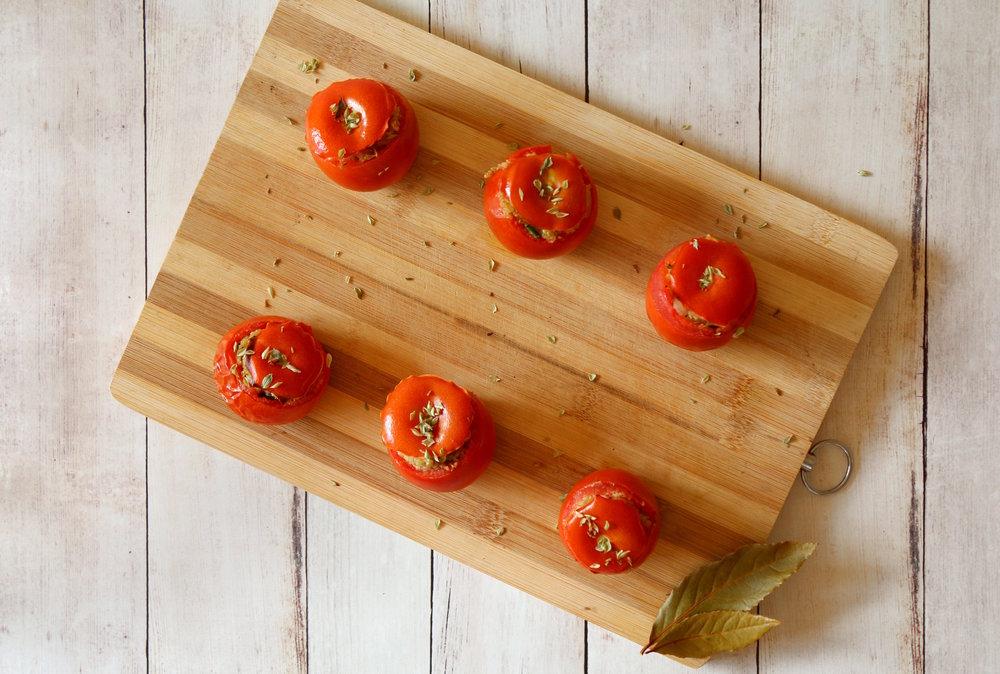 stuffed tomatoes vegan recipe