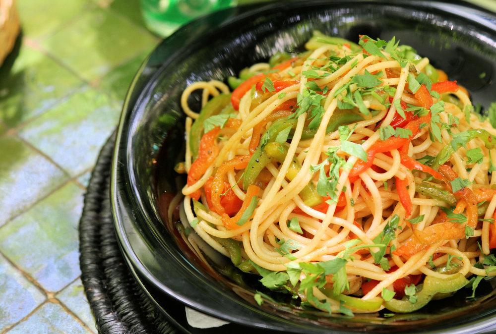 vegan pasta marrakech le jardin restaurant