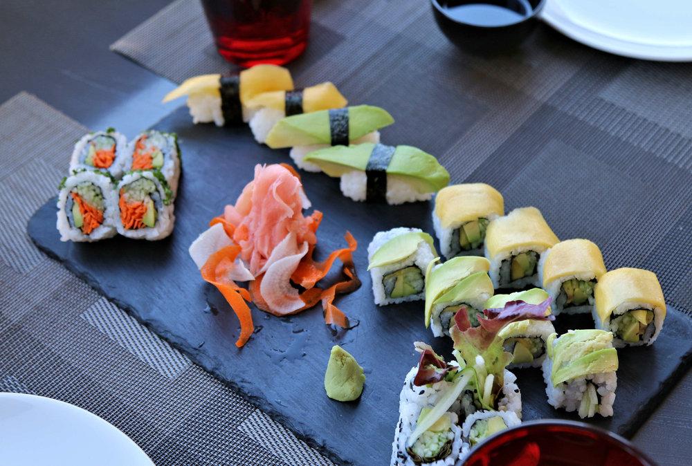 vegan sushi in marrakech namazake sky lounge