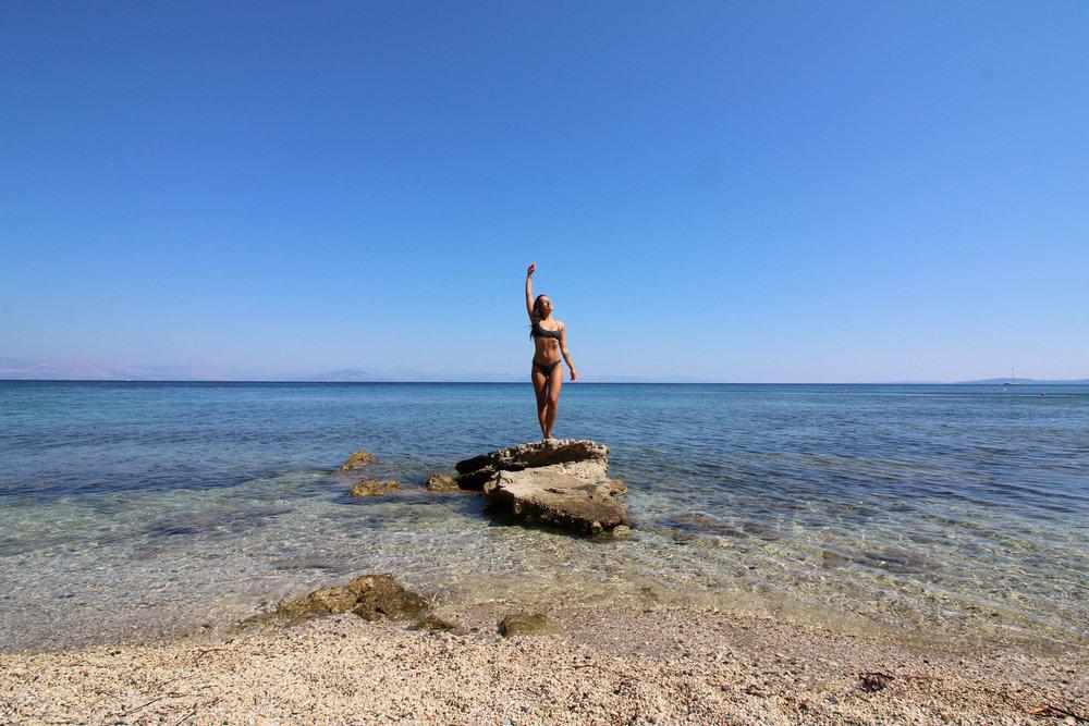 beach corfu perama