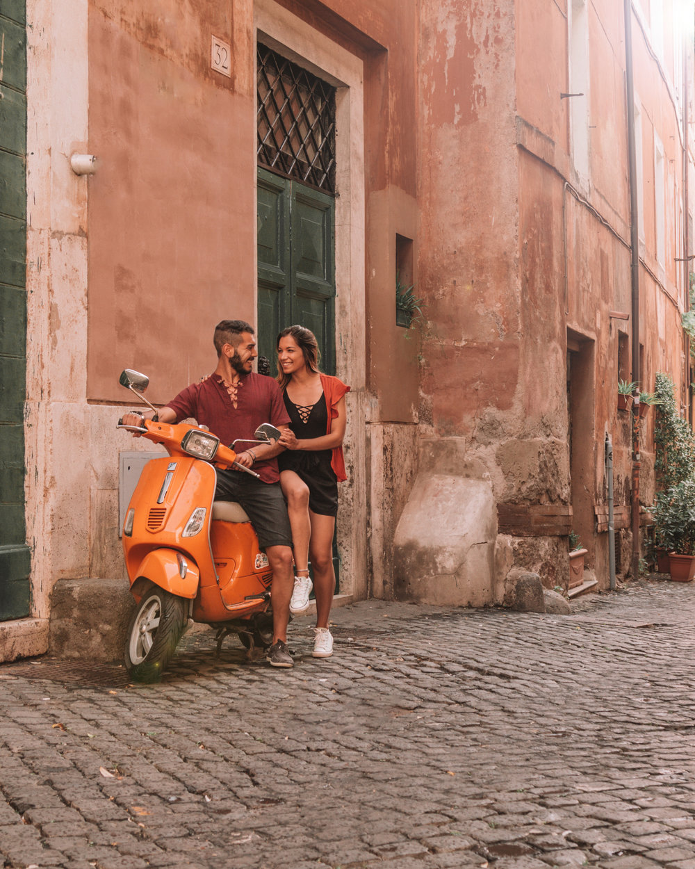 vespa rome italy travel couple trastevere best places to see things to do culture photography instagrammable