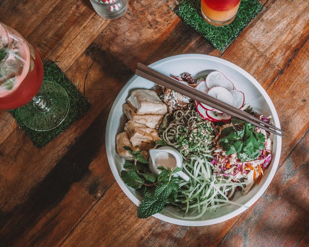 my warung meal food delicious tasty salads tofu curry canggu bali traditional balinese indonesian