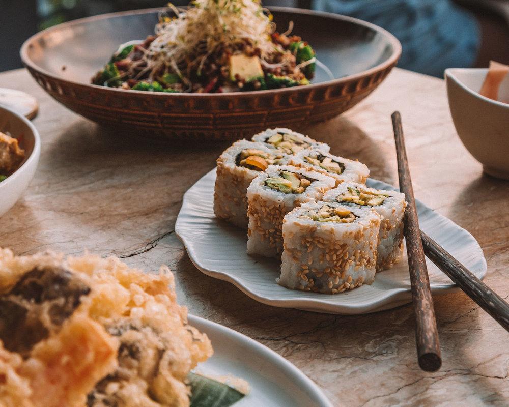 canguu bali best places eat sushi cocktails sunset beach view vegan vegetarian