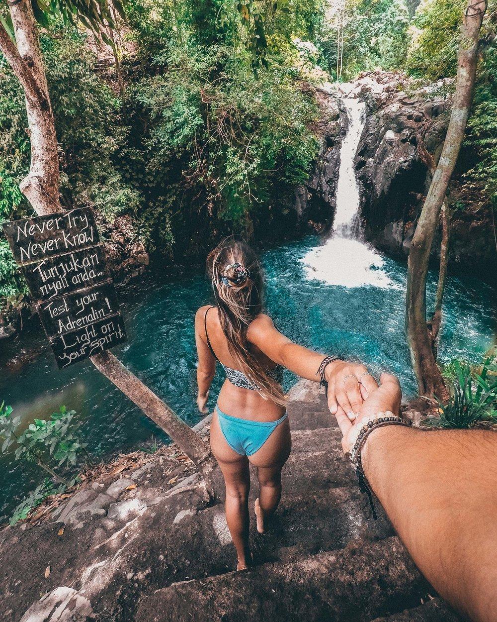 aling aling waterfall munduk wild nature explore travel gopro