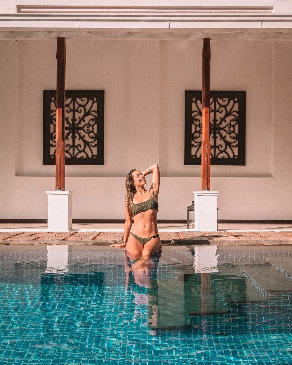 Residence by Uga Escapes swimming pool view bikini girl body goals boutique hotel Sri Lanka