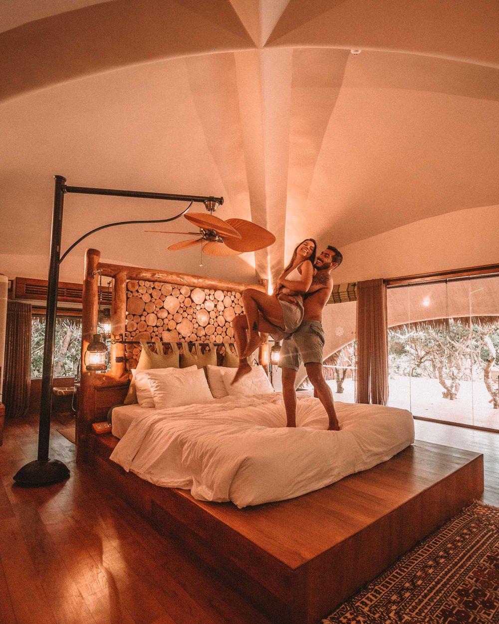 Yala national park Chena Huts uga escapes bedroom couple time honeymoon best safari camp for travelers
