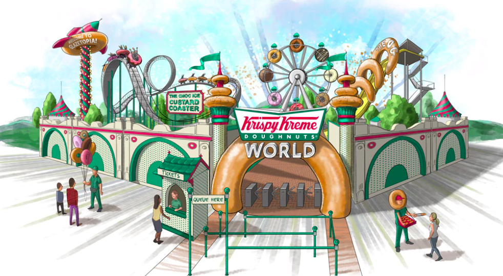 Krispy Kreme announced they would open the world's first doughnut-themed amusement park.