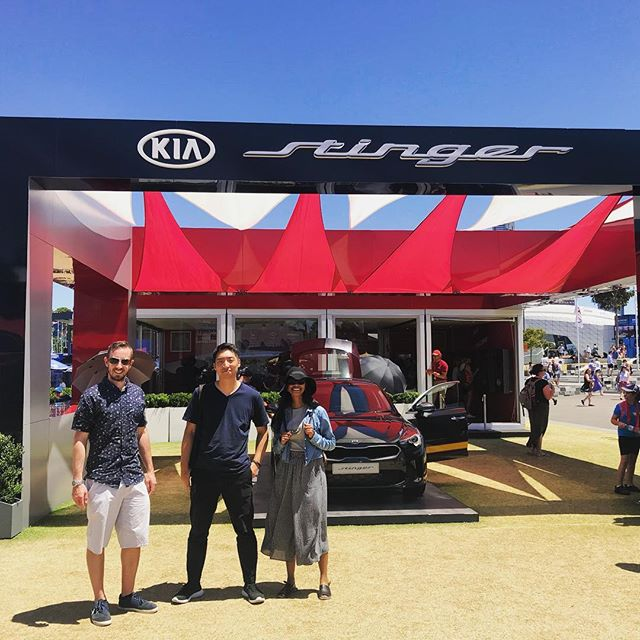 Thank you @kiaaustralia for giving us tickets to the Aus Open 2018! 🎾#kiastinger #australianopen #kia #melbourne #tennis #ausopen