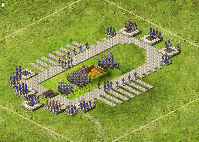 Snake Full Keep - 1 Captain 20 Archers / 28 Pikes / 66 Catapults