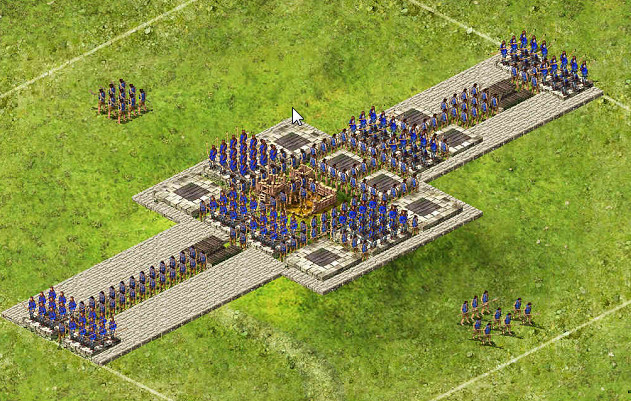 Snake Long - 1 Captain 19 Archers / 29 Pikes / 64 Catapults