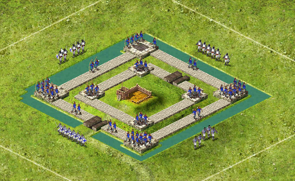 Pig Small Square - 3 Captains 39 Archers / 42 Pikes / 63 Catapults