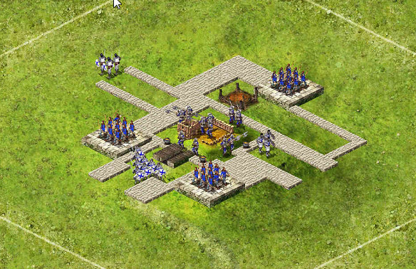 Wolf Small 3 Tower - 3 Captains 34 Archers / 43 Pikes / 51 Catapults